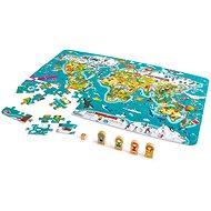 Hape 2 az 1-ben világtérkép - Puzzle