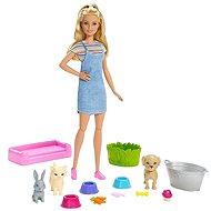 Barbie Kisállat fürdetés - Baba