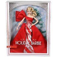 Szőke hajú Barbie baba karácsonyi ruhában - Baba