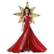 Barna hajú Barbie baba karácsonyi ruhában - Baba