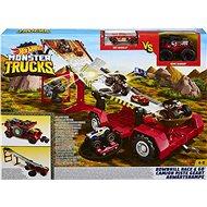 Hot Wheels Monster Trucks Lejtős verseny 2 az 1-ben - Játék szett