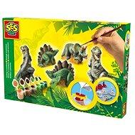 SES Kreatív gipszöntő- és festőkészlet - Dinoszauruszos - Kreatív szett