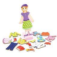 Fa mágneses öltöztetős játék - lány - Fajáték