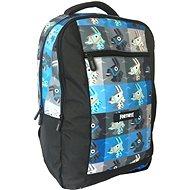 Fortnite Backpack, kék-fekete - Iskolatáska