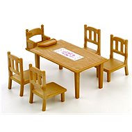 Sylvanian Families Étkezőasztal székekkel - Játékszett