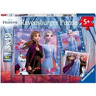 Ravensburger 050116 Disney Jégvarázs 2, 3x49 darab - Puzzle