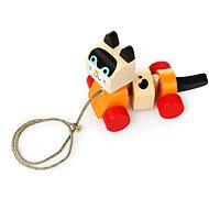 Fajáték Cubika 13616 Húzható cica - Dřevěná hračka