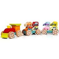 Cubika 13999 Vonat autókkal - Fajáték