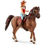 Schleich 42514 Vöröshajú Hannah és Cayenne ló - Figura
