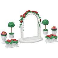 Sylvanian Families Város - virágdísz kapuval