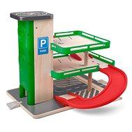 Woody Garázs lifttel és SIKU autókkal - fa/műanyag - Garázs