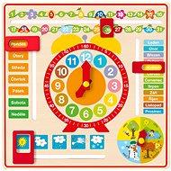 Woody többcélú naptár órával - Készségfejlesztő játék