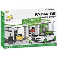 Cobi Škoda Fabia R5 Racing garázs - Építőjáték