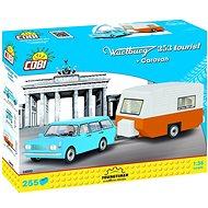 Cobi Wartburg 353 Tourist lakókocsival - Építőjáték