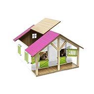 Trading Micro Kids Globe lovak az istállóban fa játékház műhellyel - rózsaszín - Fa makett