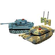 Tiger és Abrams tank készlet - 2 tank - Távvezérelhető tank