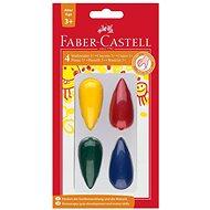 Faber-Castell cseppalakú műanyag kréták 4 színben - Színes ceruzák