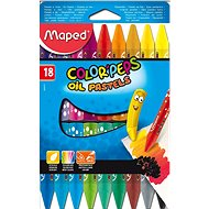 Maped Color Peps Oil Pastels, 18 színben - Színes ceruzák