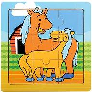 Bino puzzle fából - lovak - Puzzle