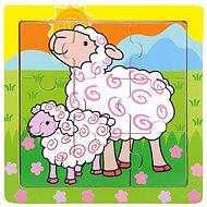 Bino puzzle fából - bárány - Puzzle