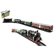 Mozdony + 3 vasúti kocsi 24 darab sínnel - Kisvasút