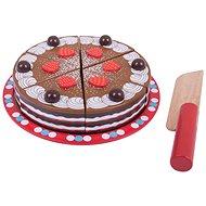 Bigjigs Szeletelhető fa torta - Játékszett