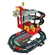 Bburago Ferrari Race & Play Parkolóház + 4 db Ferrari 1:43 - Játékszett