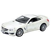 Bburago Mercedes-Benz SL 65 AMG fehér 01:24 - Játékautó