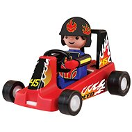 Igracek gokart versenyző - piros színben - Figura