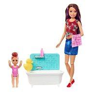 Bébiszitter Barbie V. játékkészlet - Baba