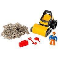 Kinetic Rock Útépítő készlet úthengerrel, figurával és kiegészítőkkel, 141 g fekete-sárga - Kinetikus homok