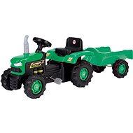 Dolu Pedálos traktor utánfutóval, zöld - Pedálos traktor