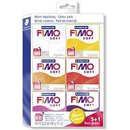 Fimo Soft 5 + 1 készlet, meleg színek - Gyurma