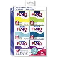 Fimo Soft 5 + 1 készlet, hideg színek - Gyurma
