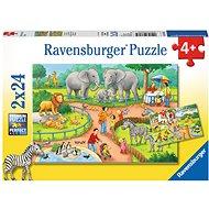 Ravensburger 78134 Egy nap az állatkertben - Puzzle