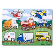 Közlekedési eszközök - Fa kirakós játékok