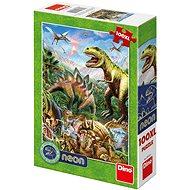A dinoszauruszok világa - neon - Puzzle