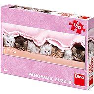 Kiscicák a takaró alatt - panoráma - Puzzle
