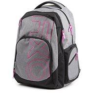OXY Style GREY LINE Pink - Iskolatáska