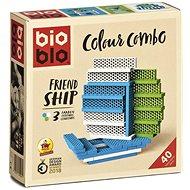 Bioblo Colours Ship - 40 építőelem - Építőjáték