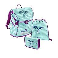 Baggymax Fabby iskolatáska szett, Delfin mintázat - Iskolai felszerelés