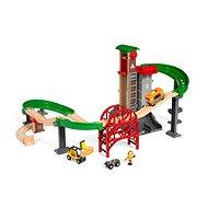 Brio World 33887 Logisztikai raktár pályával, emelő és rakodó berendezéssel - Kisvasút