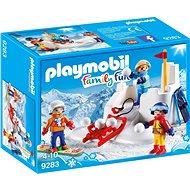 Építőjáték Playmobil 9283 Hógolyócsata