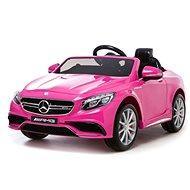 Mercedes-Benz S63 AMG - Pink elektromos autó - Elektromos autó gyerekeknek