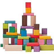 Woody FSC színes kockák 50 darabos - Építőjáték