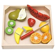 Készségfejlesztő játék Woody Szeletelés a vágódeszkán - gyümölccsel, görögdinnyével - Didaktická hračka