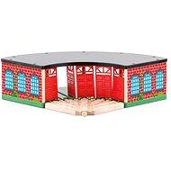 Woody vasútmodell kiegészítők: Nagy vasúti depó - fa/műanyag - Vasútmodell kiegészítő