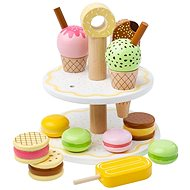 Bigjigs Toys Fa állvány édes finomságokkal - Fajáték