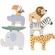 Fajáték Small Foot Safari Egymásra rakható állatok