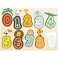 Small Foot Safari Beillesztős puzzle - Számok - Fa kirakós játékok